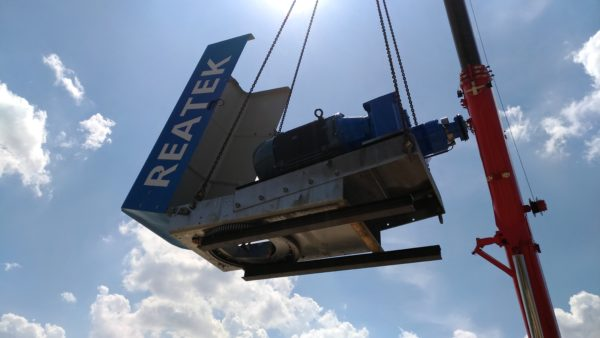 REATEK: installation wind turbine in Lucera (Italy)